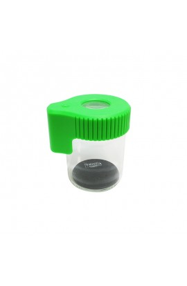 Tarro de Vidrio con Lupa y LED Dank 420 - Verde