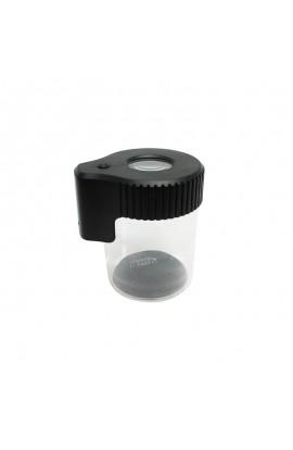 Tarro de Vidrio con Lupa y LED Dank 420 - Negra