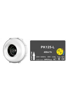 EXT PK 125 400 M3/H + CONTROL DE TEMPERATURA Y REVOLUCIONES