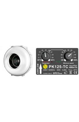 EXTRACTOR PK 125 400 M3/H + CONTROL DE TEMPERATURA Y REVOLUCIONES
